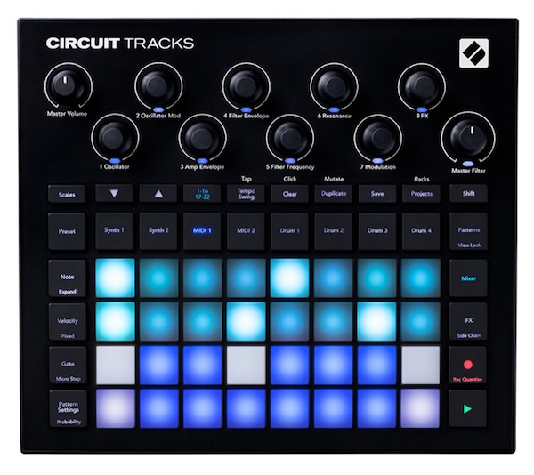 Synthesizer, Sequencer, Drum Machine in one