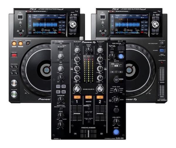 CDJ and Mixer Combo