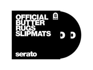 Serato OSA-SM-BLK-BR Butter Rug Slipmats Black (Pair)